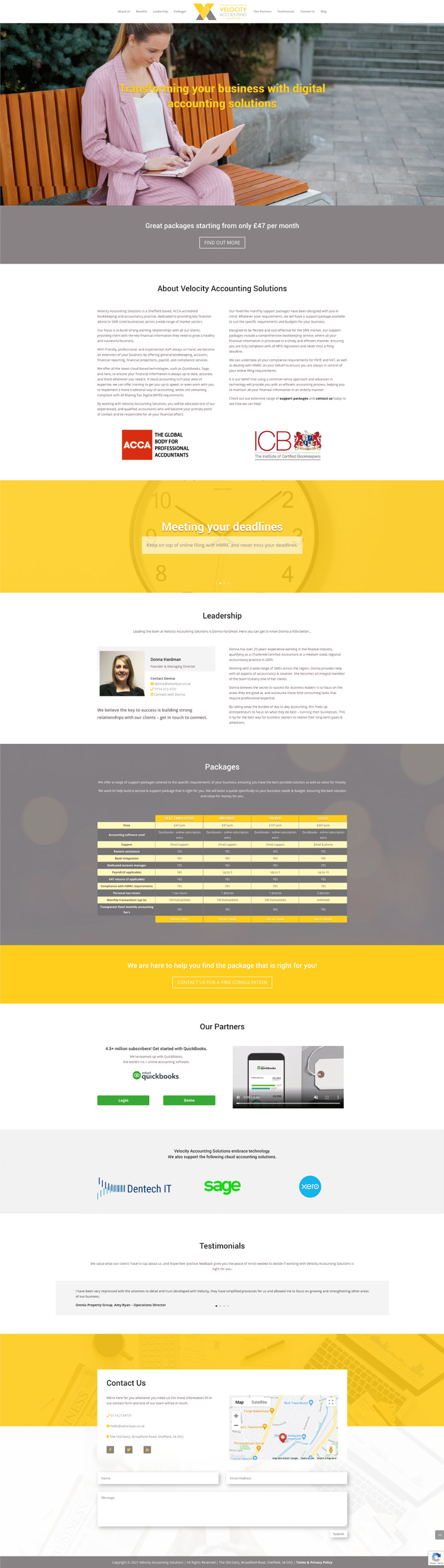Velocity-page-layout