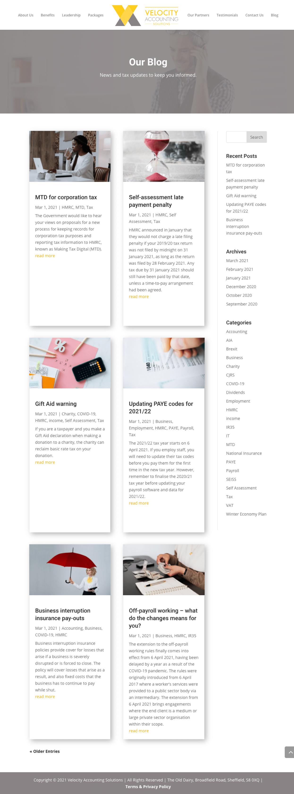 velocity-blog-page-layout